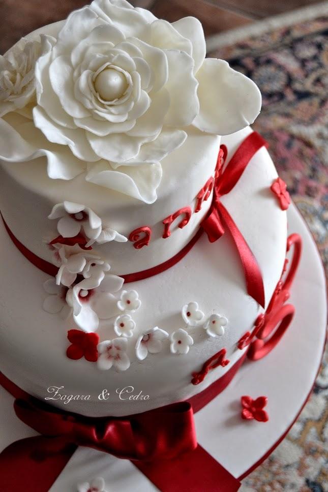 Torta Gardenia Per Il 50esimo Di Anna Zagara E Cedro