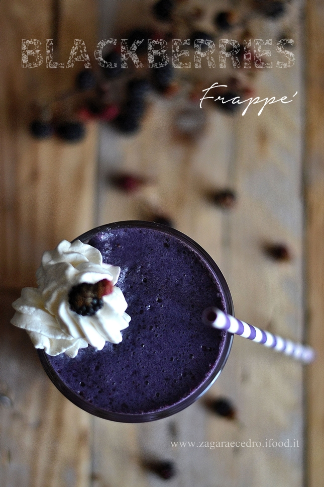 Blackberries Frappè