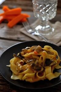 Pappardelle risottate Zucca e Funghi