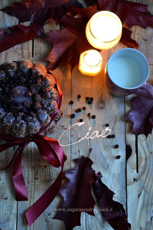 Torta al succo di mirtilli e semi di papavero