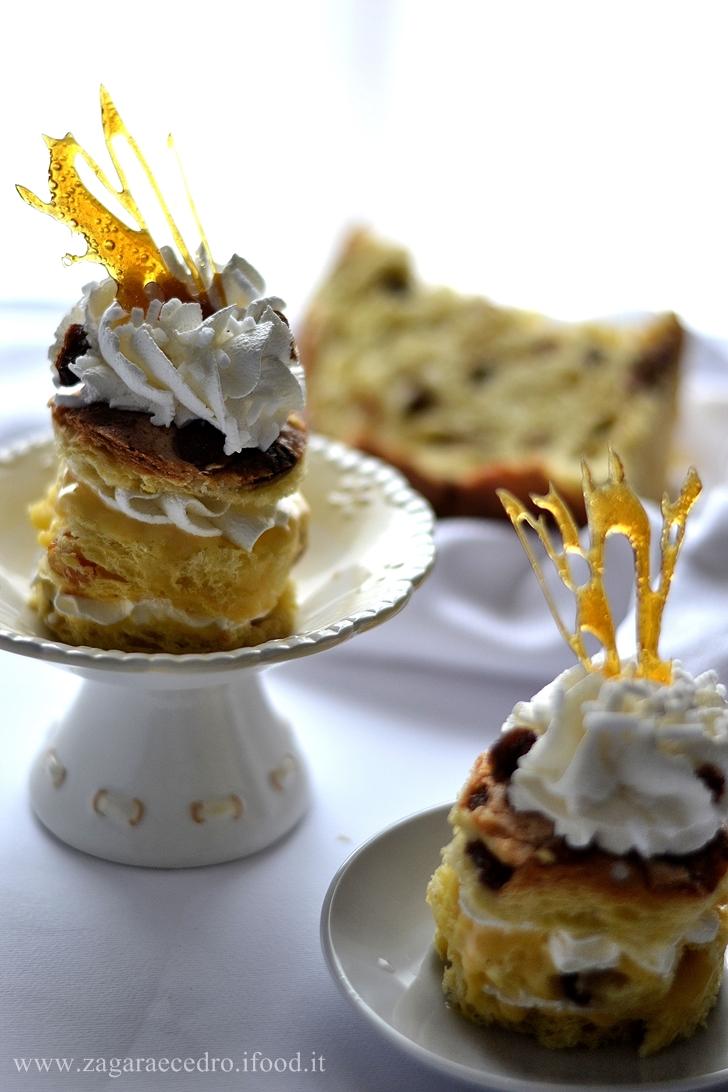 Torretta di Panettone con crema al mandarino