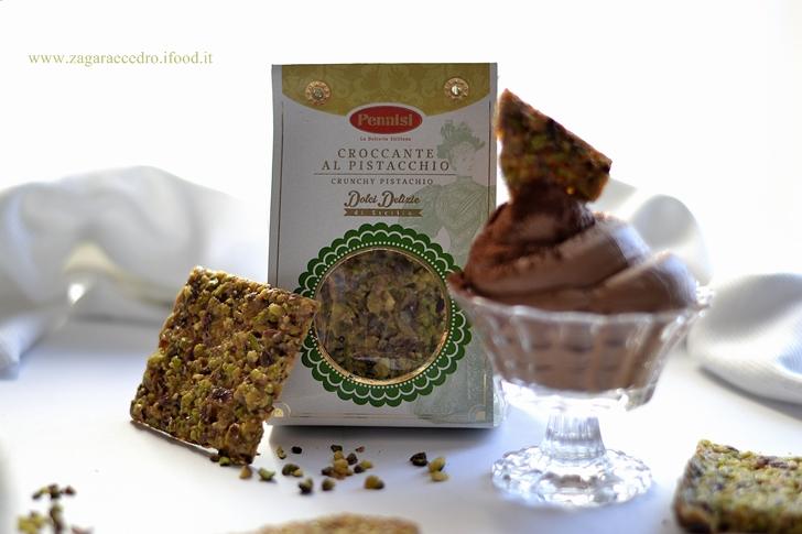 Mousse al Cioccolato e Croccante al Pistacchio Pennisi