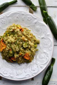 risotto asparagi e fiori di zucca