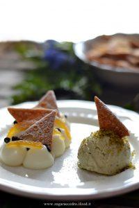 Dessert di ricotta e chips di cannoli