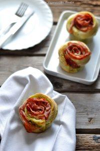 rose di sfoglia pistacchio e speck