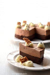 torta brownies e mousse al cioccolato
