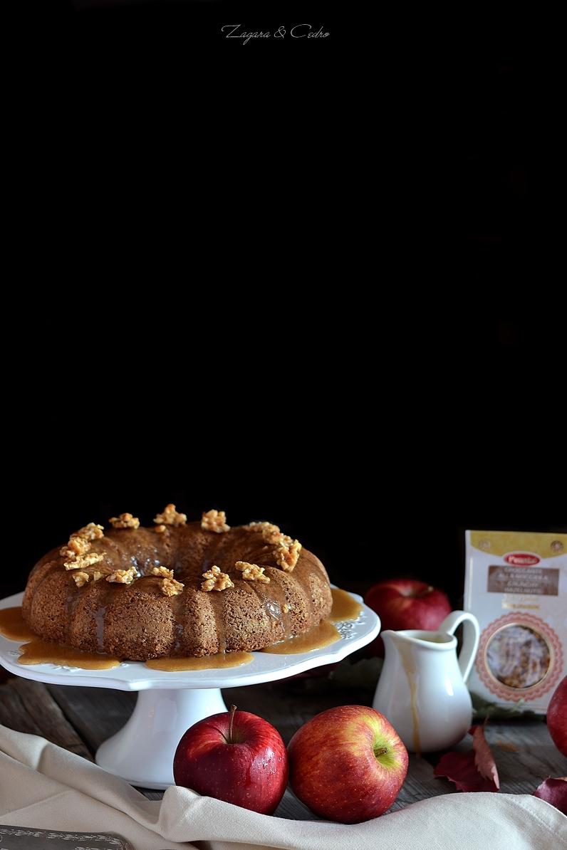 torta con mele nocciole e spezie