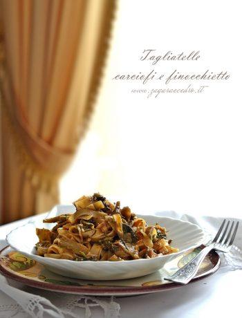 tagliatelle carciofi finocchietto e pistacchio