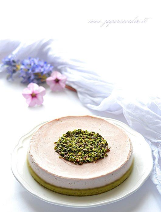 cheesecake pistacchio e mortadella