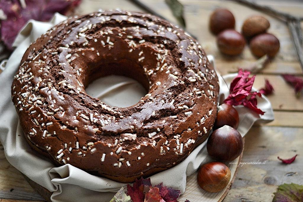 ciambella di castagne e cacao