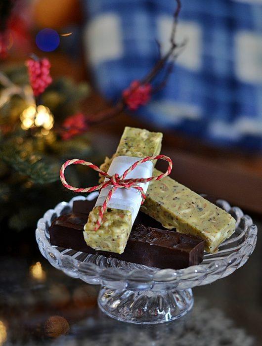 barrette al pistacchio e cioccolato