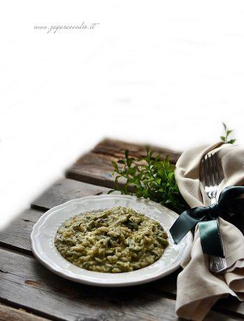 risotto al finocchietto selvatico e pistacchio