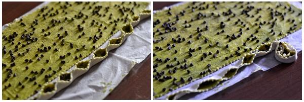girelle di sfoglia al pistacchio