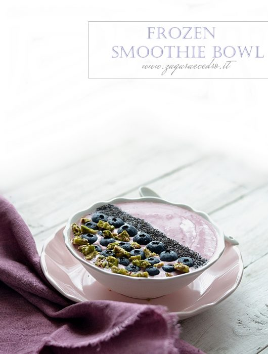 frozen smoothie bowl