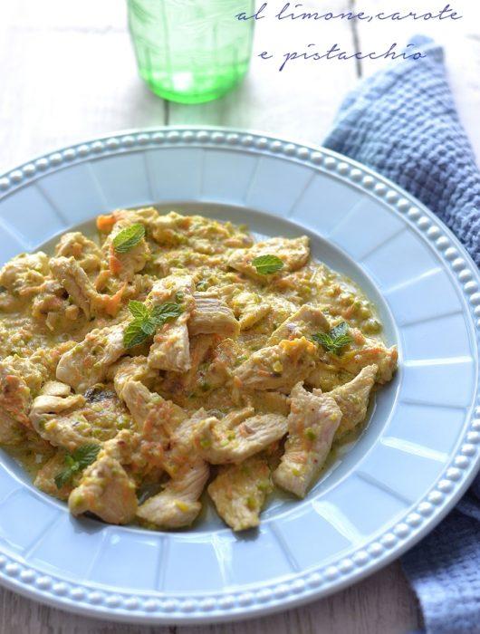 pollo al limone e pistacchio