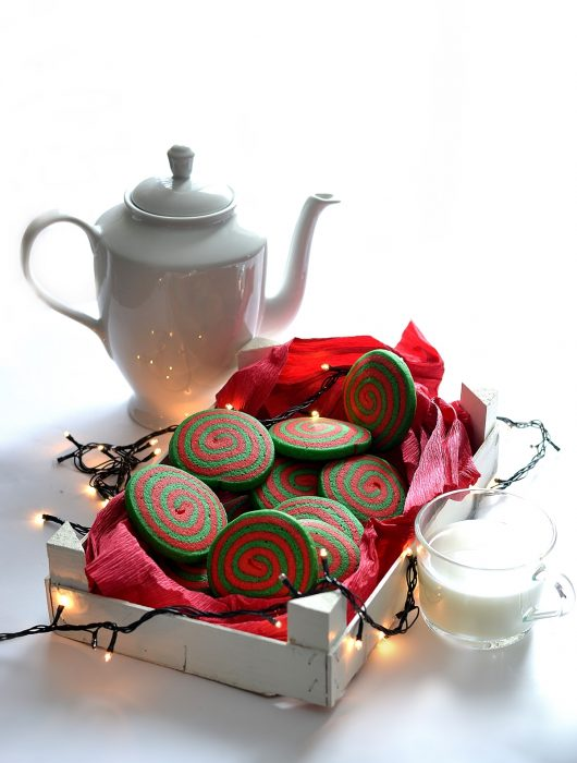 biscotti girella natalizi
