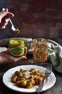 gnocchi pesto di pistacchio