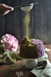 Chiffon cake al matcha